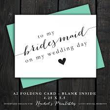 Printable Bridesmaid Thank You Card