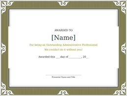 Administrative Professional Certificate Download Certificate Of Recognition For Free Formtemplate
