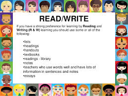learning styles  write