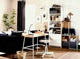 home office desks ikea. A Home Office Inside The Living Room Consisting Of Desk In Bamboo With White Steel Neat Desks Ikea K
