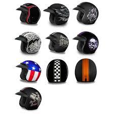 Daytona Helmets Dot 3 4 Open Face Solid Color Motorcycle Helmet Size Graphic