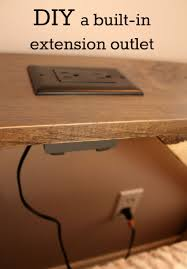desk power outlet. We Converted A Wall Outlet Into An Extension For Our TV Room Sofa Table. This Outlet, Built The Face Of Table, Allows Us To Utilize Desk Power X