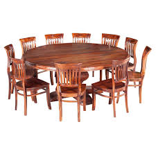 sierra nevada large round rustic solid wood dining table