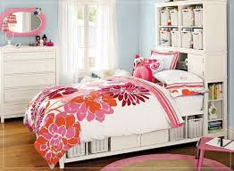colorful teen bedroom design ideas. Colorful Striped Pattern Bed Frame Headboard Footboard Bedroom Design For Teenage Girl Portable White Timber Stained Bookcase Ideas Kids Bedrooms Teen