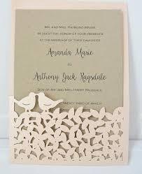 25pieces Laser Cut Wedding Invitation Birthday Engagement Graduation