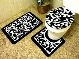 bath rugs sets rug sets for luxuriant black white bathroom mat black and white