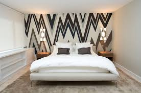 accent walls for bedrooms. Wallpapered Accent Wall Walls For Bedrooms