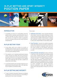 For example, if a concept is presented in the background. Essa Position Paper On Sports Integrity Ibia