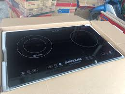 Bán Bếp điện từ Sunhouse SHB 9106-ES 4800W/220V - 50Hz - Bàn phím cảm ứng,  mặt kính Schost Ceran, nút khóa trẻ em, tự động ngắt khi quá nóng - Bảo hành