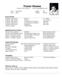 Example Of A Dance Resume Dancer Resume Examples Dance Resume
