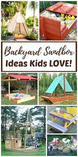 sandbox with canopy and ready made backyard sandboxes are amazing outdoor sensory backyard play spaces for
