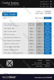 Invoice Style Invoice Template Clean Modern Style Of Blue Vector Image 20