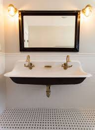 faucet sinks custom undermount trough bathroom sink with two faucets sinks for