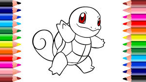 Small Picture Pokemon Squirtle Coloring Pages for kids Setoys YouTube