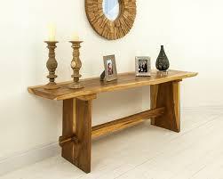 wood console table  chunky handmade suar wood