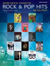 2015 Rock Charts Rock Pop Hits For Guitar