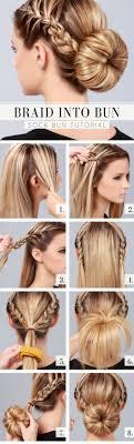 How To Make Gorgeous Braid Into Bun Hair Style Step By Step Diy