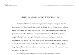 holden s spiritual journey in the catcher in the rye gcse  document image preview
