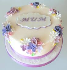 7 Calligraphy Flower Designs On Cakes Photo Mothers Day Cake Mother