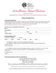 Sponsorship Agreement Template Resumess Franklinfire Co