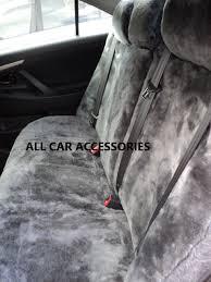toyota landcruiser tailor made sheepskin lambswool rear car seat covers