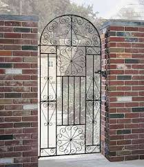 edinburgh bow top wrought iron style metal side gate
