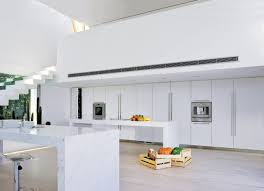 Carrera Countertops immaculate white lacquer kitchen with carrera marble countertops 3810 by xevi.us