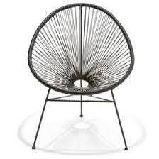 black metal outdoor furniture. Acapulco Replica Chair - Black Black Metal Outdoor Furniture