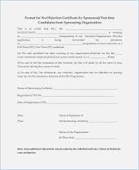 Request Letter For No Objection Certificate Format No