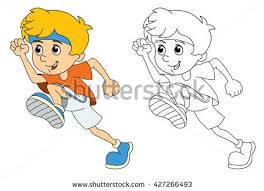 Small Picture Little Girl Walking Drawing Stock Vector 327670055 Shutterstock