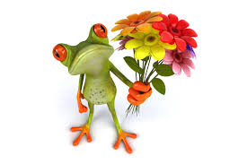 Image result for clipart funny frog with flowers