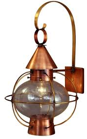 funky outdoor lighting. Cape Cod Onion Lantern Copper Wall Light With Scroll Funky Outdoor Lighting D