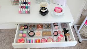 eye catching makeup organizer design ideas with vanity storage and new bedroom decoration plus