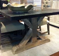 new metal top dining room table  in modern dining table with