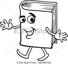 book cartoon coloring page csp18847322