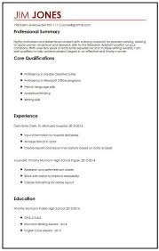 Sample Cv Student Cv Sample For High School Students Myperfectcv