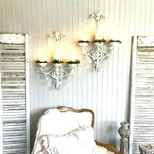 shabby chic sconces crystal wall candle holder sconces shabby chic set of two white hand painted shabby chic wall