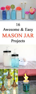 jar crafts home easy diy:  awesome and easy diy mason jar projects