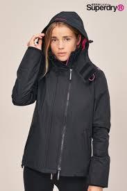 Superdry Uk Size Chart Women S Superdry Black Pink Windcheater Jacket