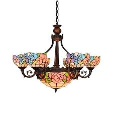 chandelier stained glass new 6 arms hanging inverted parts chandelier stained glass light theatre w panel parts