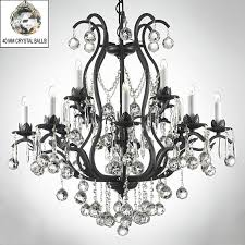wrought iron crystal chandelier chandeliers lighting dressed w crystal a83 b6 3034 8 4 sw by gallery lighting on opensky