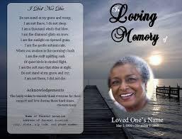 Obituary Program Template Microsoft Word Free Funeral Program