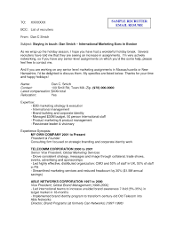 Sample Email To Send Resume To Recruiter Sample Email to Recruiter with Resume Sample Email to Send Resume 1