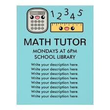tutor flyer templates free math tutor flyer template math tutoring lessons teaching