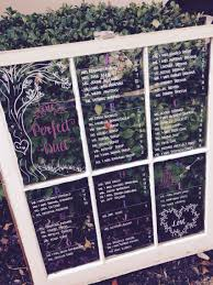 Rustic Wedding Window Pane Seating Charts Seating Chart