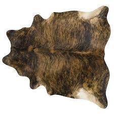 brindle dark cowhide rug large brown black free today cowh