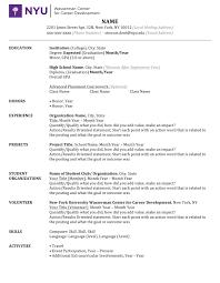 Nyu Resume Resume Template Microsoft Word Guide Checklist 24docx Nyu Wasserman 1