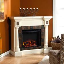 white corner electric fireplace heater unit a center faux slate convertible ivory