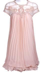 Light Pink Short Tight Dress Light Pink Short Sleeve Lace Pleated Chiffon Dress This