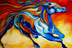 horse painting stormy an equine abstract southwest by marcia baldwin